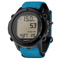 Декомпрессиметр Suunto D6i Novo Instructor Blue Zulu, с интерфейсом USB